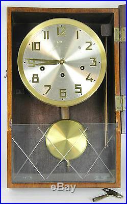 Horloge Murale Bois. Sphere Aluminium Et Le Laiton. 20-30 Ans