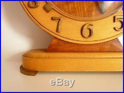 Horloge de table, pendule, Bayard 8 day. Bois et laiton. Art Déco