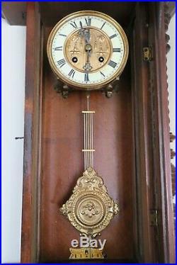 Horloge murale à balancier traditionnel Henri II, Carillon, Pendule murale