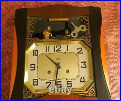 Horloge murale pendule carillon art deco ODO compléte et fonctionnelle