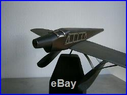 Hydravion Art Deco Ancien Decor Bois Et Aluminium 1930 Avion Aeronautique