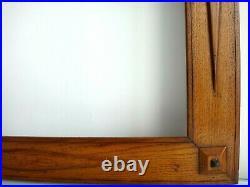 Important cadre bois noyer sculpté Art déco 86,5cm x 69cm Antique frame wooden
