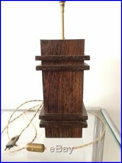 Jacques Adnet rare lampe Art déco moderniste en bois de palmier années 1930
