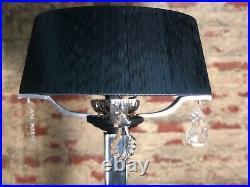 Lampadaire Art Déco à pampilles et miroirs biseautés