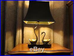 Lampe ART DECO, socle bois, Laiton, 1930
