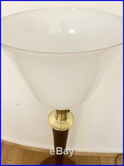 Lampe Mazda Art Deco Grand modèle Et Opaline