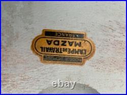 Lampe Mazda avec peau de python et armatures dore hauteur 60 cm