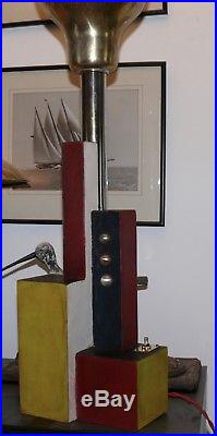 Lampe ancienne design constructiviste Mondrian Huszar cubiste art deco Light