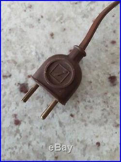 Lampe art deco 1930 bois Signée Mazda tirette en parfait état de marche