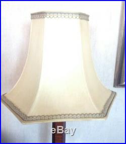 Lampe art deco 1930 bois précieux