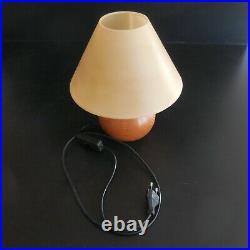 Lampe chevet GL pied bois éclairage vintage art déco design XX SPAIN N4418