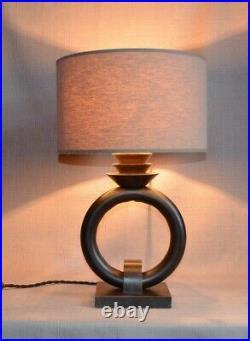 Lampe en bois, art deco moderniste cubiste 1930 designer inconnu à identifier