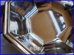 Légumier art déco en métal argenté GALLIA