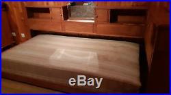 Lit en bois cosy ancien Art deco vintage années 50 + sommier
