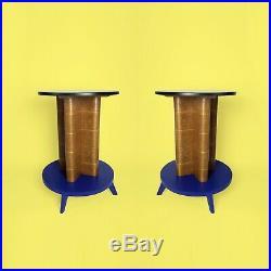 Lot De 2 Guéridons années 30 Art Deco Moderniste side Table Bois Sellette