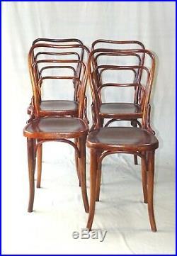 Lot de 4 chaises Thonet N°144, 1911 assises bois, modéle copié sur KOHN 248 a
