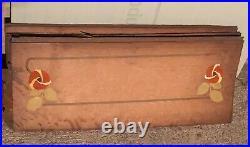 Lot marqueterie, art nouveau, épreuve concours wagons-lits Orient Express, 1920