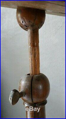 Lutrin bois 19ème hauteur réglable / Pupitre support livre / Art religieux déco