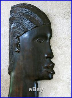 MÉDAILLON AFRICAIN, très beau couple, profil africain, ART DÉCO