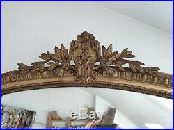 Magnifique Ancien Grand Miroir De Cheminée