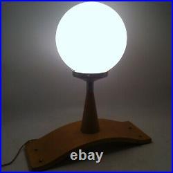 Magnifique Lampe En Bois Art Deco Moderniste