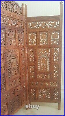 Magnifique Paravent en bois fait à la main Fabriqué en Inde