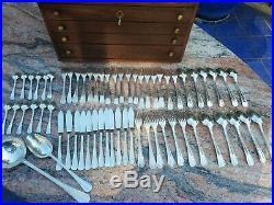 Ménagère Christofle métal argenté coffret bois 62 pièces Boréal art deco gallia