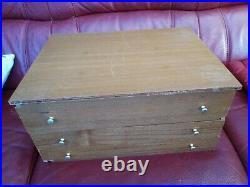 Ménagère métal argenté 99 p coffret bois Louis xvi dlg Christofle Marly