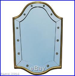 Miroir Art Deco 1940/1950 Encadrement Bois Dore