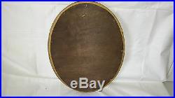 Miroir En Bois Doré Ovale 48 CM X 35 CM Très Joli Ancien
