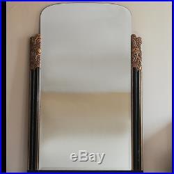 Miroir ancien en bois et stuc style Art déco