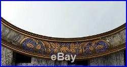 Miroir ovale en plâtre et bois art déco 50 X 60 cm