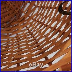 N1997 panier osier vintage art déco fait main handmade PN France