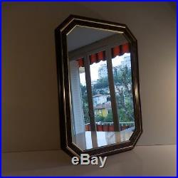 N2230 Glace miroir verre encadrement bois design XXe art déco PN France