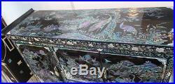 Nacre Grand Bijoux En Bois Collier Décoratif Art Déco Laque Boîte