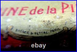 Objet publicitaire Art Déco, tampon buvard en tôle Vin de SAUMUR Garnier Frères