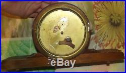 Old Vintage Art Deco Mark Vedette Clock, pendule à poser fonctionne mécanisme