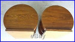 PAIRE DE CHEVETS ART DECO 1930 en bois marqueté en bon état (1 tiroir)