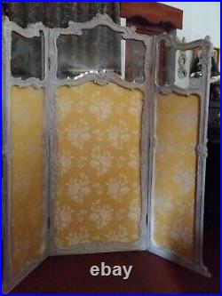 PARAVENT ancien refait entièrement par un tapissier