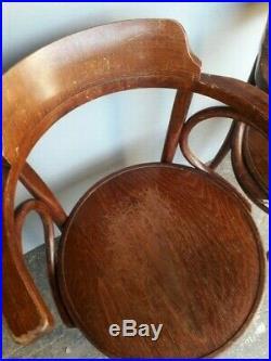 Paire 2 fauteuils modele Fischel bois courbé bistrot