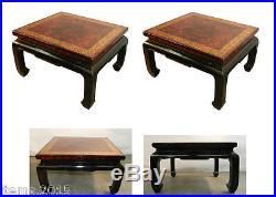 Paire De Bouts De Canape, Ou Tables De Salon En Bois Laque Vers 1930/1950