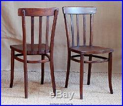 Paire de chaises bistrot bois THONET art déco 1925/30 no baumann