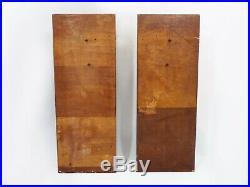 Paire de consoles, table de chevet Art Déco en bois, 80 cm. Epoque Art Déco