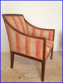 Paire de fauteuils art deco attribué à Jean Michel Frank en acajou en bon état