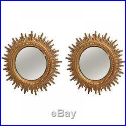 Paire de soleils miroirs biseautés