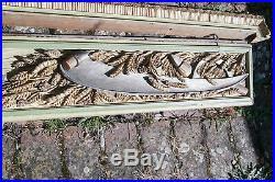 Panneau Bois Sculpte Fronton Moisson du Blé Wheat Harvest Panel