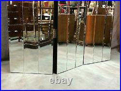 Paravent à 3 vantaux en miroirs biseautés