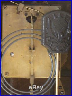 Pendule Art Déco Hollandaise en bois Clock Uhr Reloj
