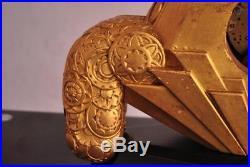 Pendule Art déco bois doré d'après Sue et Mare 1930