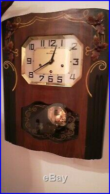 Pendule Murale Carillon Odo Westminster Clock 8 Tiges 5 Marteaux